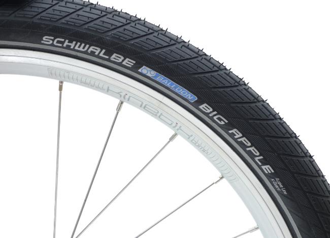 Schwalbe BIG APPLE Reifen auf Kinetix Felge