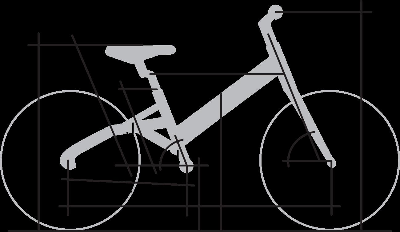 Rahmengeometrie LIKEtoBIKE 16
