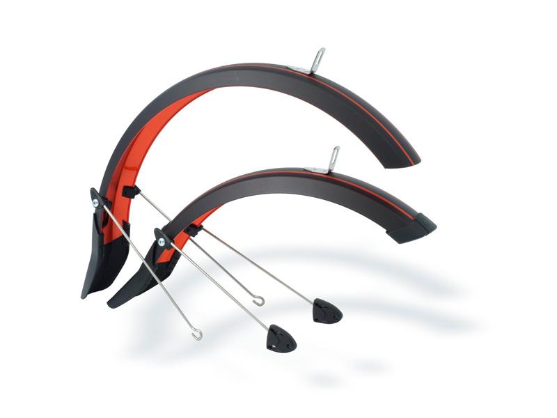 Schutzbleche in schwarz-orange für LIKEtoBIKE 16